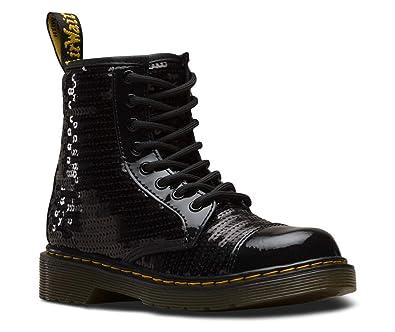 bd6986458c27 Dr. Martens Kid's Collection Girl's 1460 Pooch Sequins Boot (Little Kid/Big  Kid