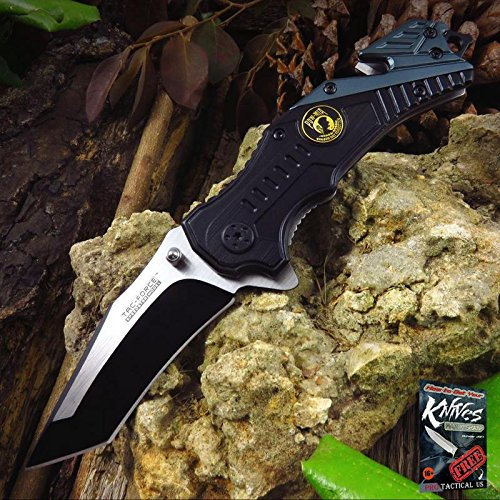 (Pocket Elite Spring Assisted Folding Knife Tac-Force POW MIA Black Tanto Blade TF-640POW + free eBook by ProTactical'US)