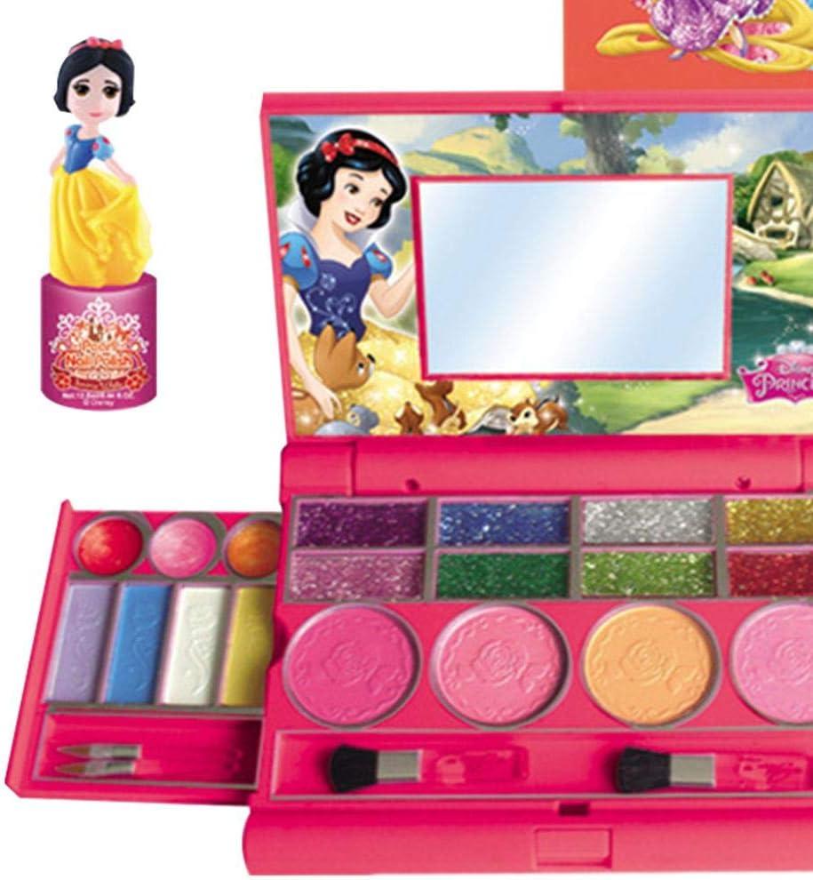 Holywonder Disney - Juego de Maquillaje para niños, Estuche de Maquillaje para Ordenador portátil a la Moda de Maquillaje para niños: Amazon.es: Hogar