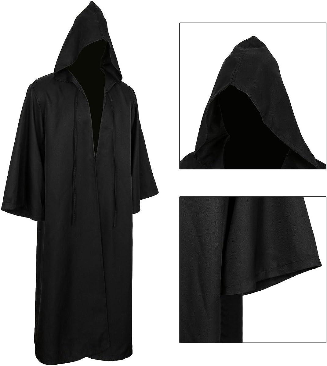 CUSFULL Mantello con Cappuccio Costume di Halloween Felpa con cappuccio Cappotto
