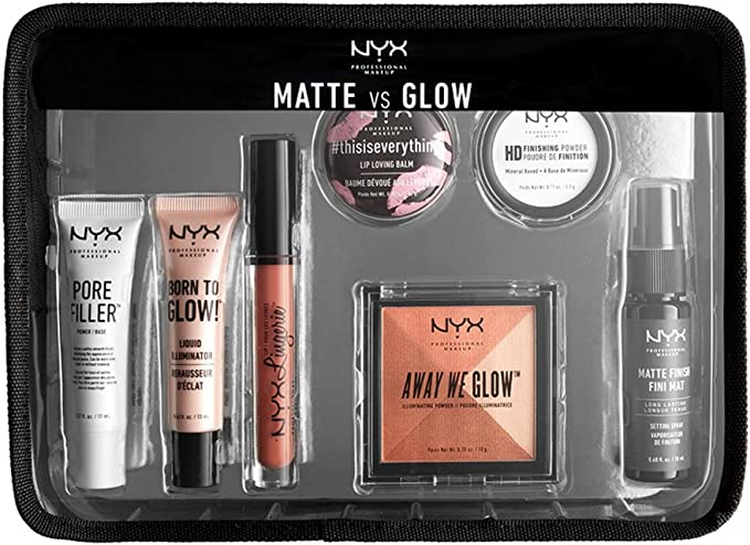 Juego de maquillaje de viaje profesional Matte Vs Glow, kit de viaje, de NYX: Amazon.es: Belleza