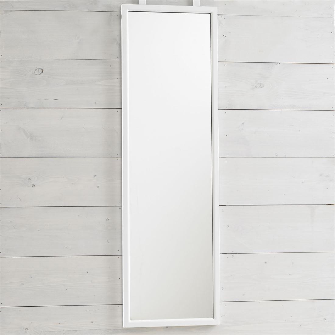 BrylaneHome Over The Door Mirror (White,0)