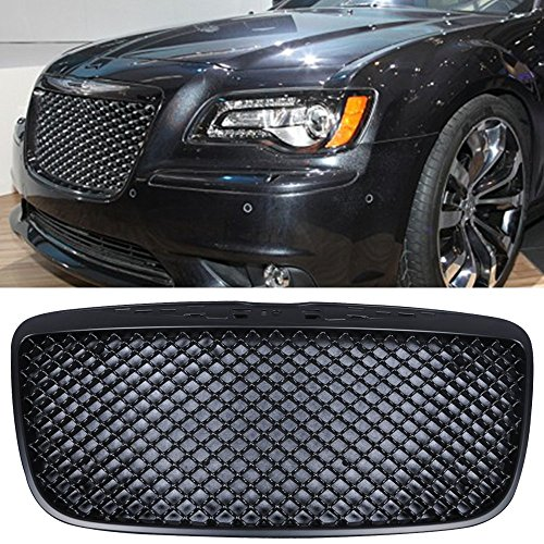Bentley Grill Chrysler 300 - Grille Fits 2011-2014 Chrysler 300 & 300C | Bentley Style ABS BlackFront Bumper Hood Grill by IKON MOTORSPORTS | 2012 2013