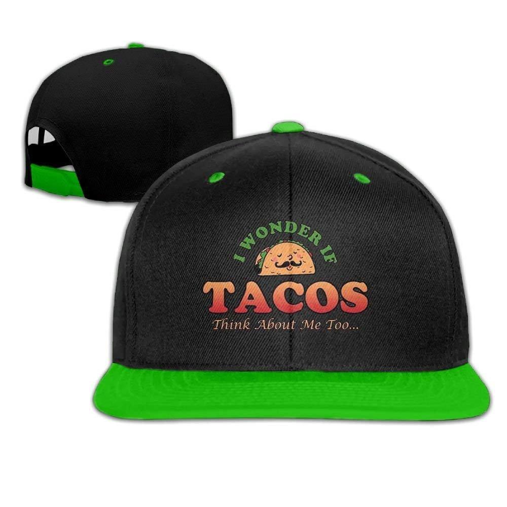 CustomHK Adjustable Trucker Hat I Wonder If Tacos Unisex Baseball Cap Hip-Hop Snapback