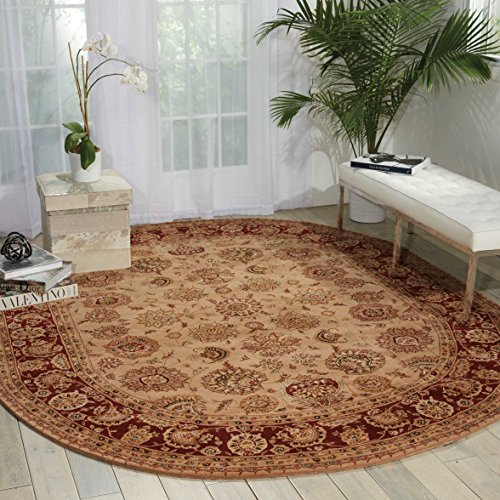 Nourison Nourison 2000 (2205) Camel Oval Area Rug, 7-Feet 6-Inches by 9-Feet 6-Inches (7'6