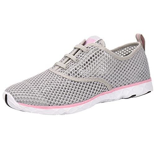 cd7b1cd1fe8d ALEADER Women s Quick Drying Aqua Water Shoes Light Gray Pink 9 D(M) US FR  40  Amazon.co.uk  Shoes   Bags