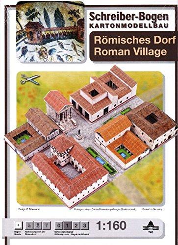 Aue Verlag Schreiber-Bogen Cardboard Modelling Roman Village