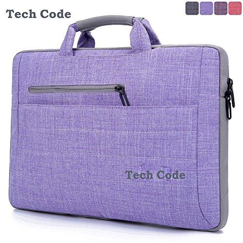TechCode Fabric Multi-functional Sleeve Carrying Clipcase Computer Bag Messenger Bag Handbag Briefcase Shoulder Bag for all Laptop 15.6 inch Tablet iPad Pro Macbook Air Unibo Notebook
