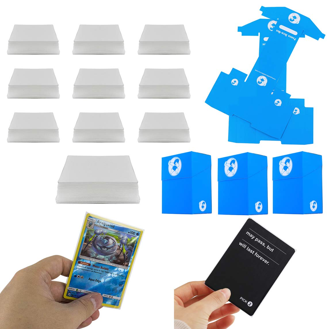 1000 Clear Card Sleeves 66X91 Mm Perfect Size für Boardgame Tcg Standard Cards
