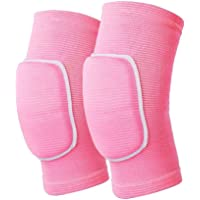 JMOKA Non-Slip Knee Brace Soft Knee Pads Breathable Knee Compression Sleeve for Dance Wrestling Volleyball Basketball Running Football Jogging Cycling Arthritis Relief Meniscus Tear for Women Men