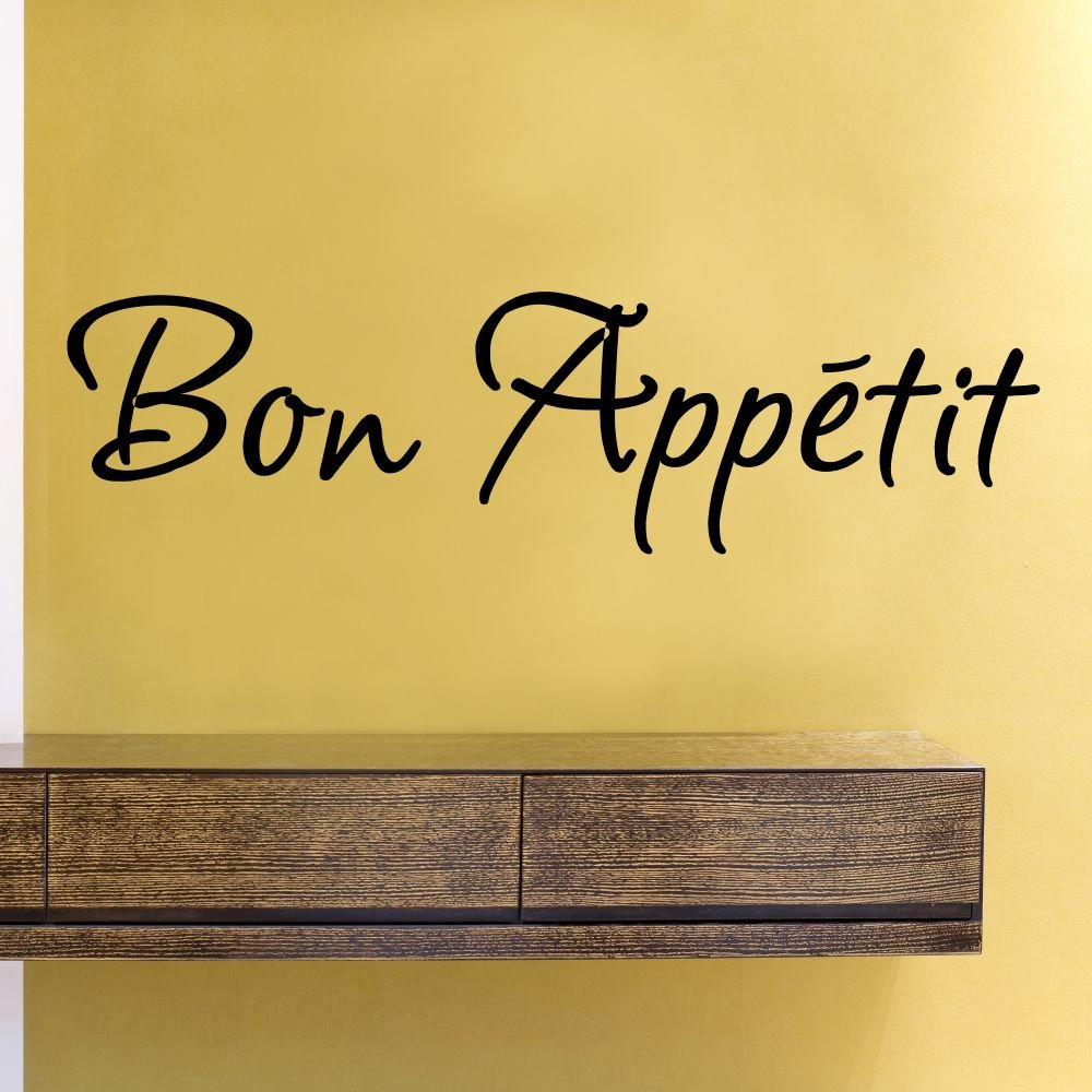 Amazon.com: Bon Appetit Vinyl Wall Decals Quotes Sayings Words Art ...