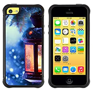 iKiki Tech / Estuche rígido - Lantern Winter Picea Christmas Tree Ice - Apple iPhone 5C