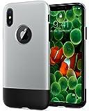 Spigen Classic One, Cover iPhone X, Alluminio, Grigio