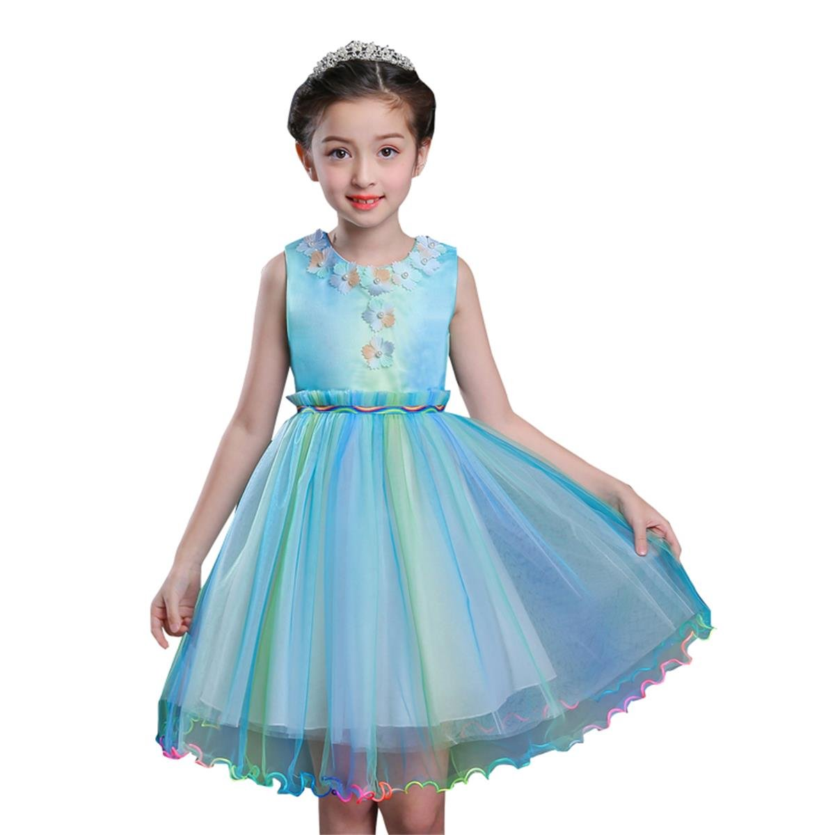 e9cebbbb24 Cotton Polyester Lace Blending Princess Rainbow Dress . Soft and  Comfortable Lining Can Protect the Skin of Little Baby Girls.
