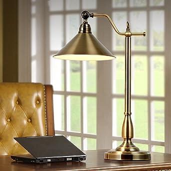 American Style Village Retro Tischlampe, Europäische Einfache Wohnzimmer  Antike Bronze Schreibtisch Lampe, Stilvolle Schlafzimmer