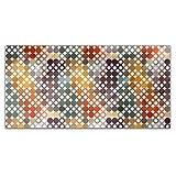 Happy Star Bingo Rectangle Tablecloth: Medium Dining Room Kitchen Woven Polyester Custom Print