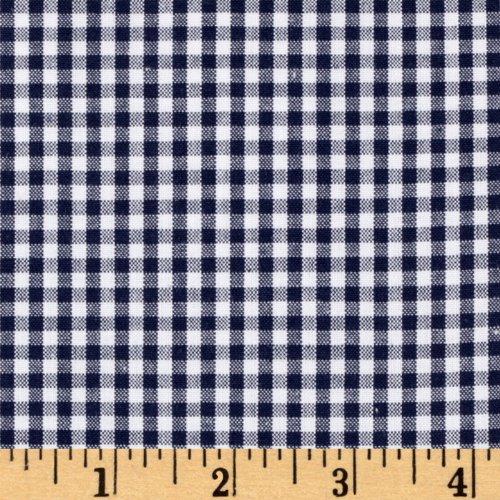 (Robert Kaufman Kaufman 1/8'' Carolina Gingham Fabric, Navy, Fabric By The Yard)
