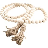 Amazon Price History for:LIOOBO Wood Bead Garland Farmhouse Rustic Country Beads Holiday Decoration Wall Hanging Prayer Beads