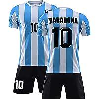 W Weiluogao Maradona Camiseta Argentina, Camiseta de Maradona Argentina 86 Retro – Selección de Fútbol de 1986, Jersey…