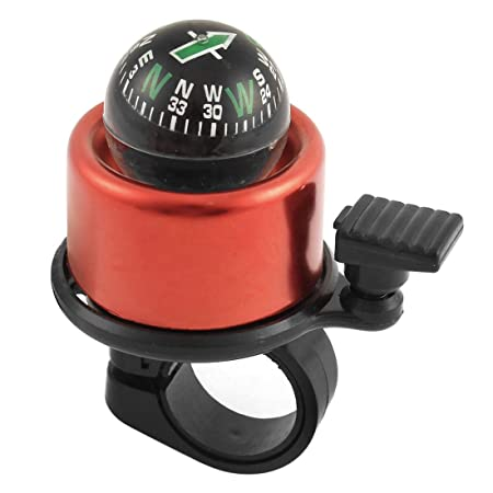Adraxx Aluminium Compass Bell for Bikes, Medium  Red  Safety   Security