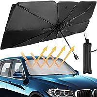مظلة قابلة للطي لزجاج مقدمة السيارة للحماية من اشعة الشمس وعزل الحرارة ووقاية الجزء الداخلي من السيارة، مقاس S من اس واي…