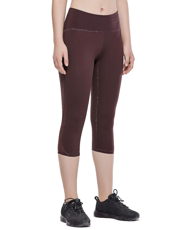 CRZ YOGA Donna 3//4 Leggins Sportivi Yoga Pantaloni da Allenamento con Tasche