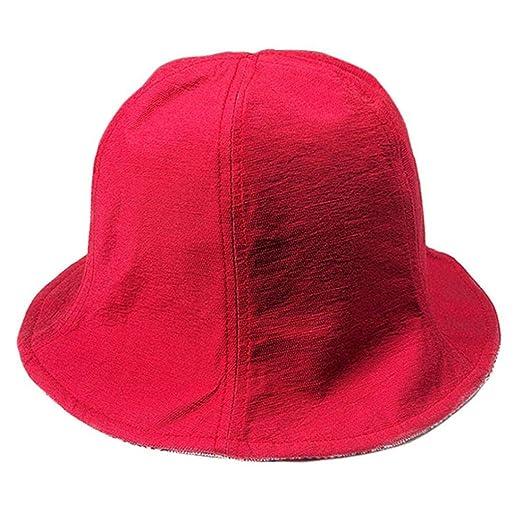 QinMM Sombrero de Paja, Hombres y Mujeres Double-Ring Wearing ...