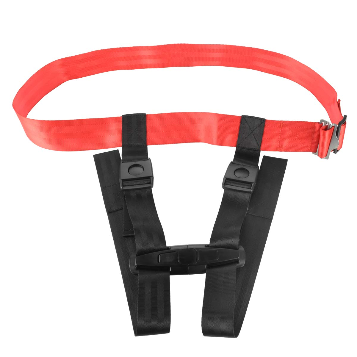 Ansblue Child Safety Harness Airplane Travel Clip Strap with Carry Pouch Bag.The Travel Harness Safety System Will Protect Your Child from Dangerous - 1pcs by Ansblue (Image #3)