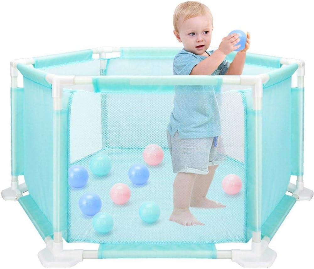 Juego de cercas hexagonales para niños pequeños, Desmontables y Lavables Juego de cercas para niños pequeños de la Piscina con Forma de Pelota oceánica, Cozy-TT