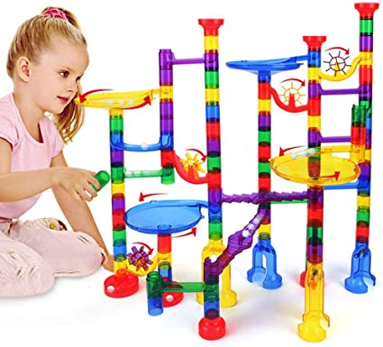 Marble Genius Tubes Compatible with Marbulous Marble Run Solid Toys 30 Pieces