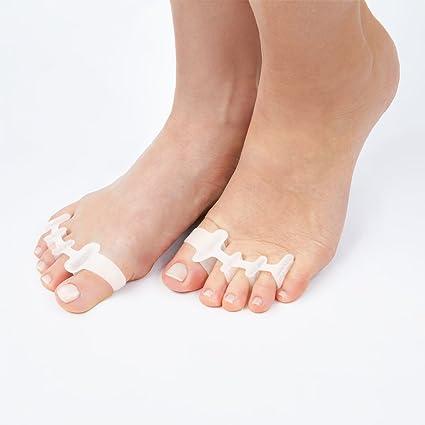 WellNow separador de dedos del pie de silicona gel original / esparcidor de dedos para se
