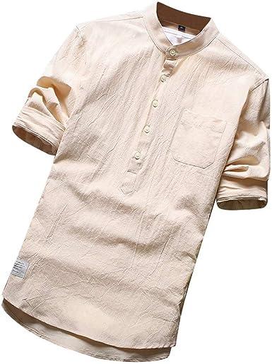 GNYD Camisetas De Hombres Sin Mangas Blancas Polo Verano,Casual ...