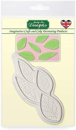 Katy Sue Designs Stitched Leaves Molde para decoración de tartas, manualidades, magdalenas, dulces, tarjetas y arcilla, apto para alimentos, fabricado en el Reino Unido, Silicona, Gris: Amazon.es: Hogar
