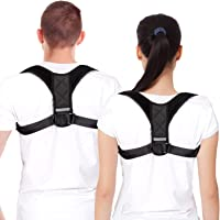Back Posture Corrector Brace for Women & Men, Comfortable & Adjustable Back Clavicle Support Brace for Slouching & Hunching, Upper Back & Shoulder & Neck Pain Relief, L(43''-48'')