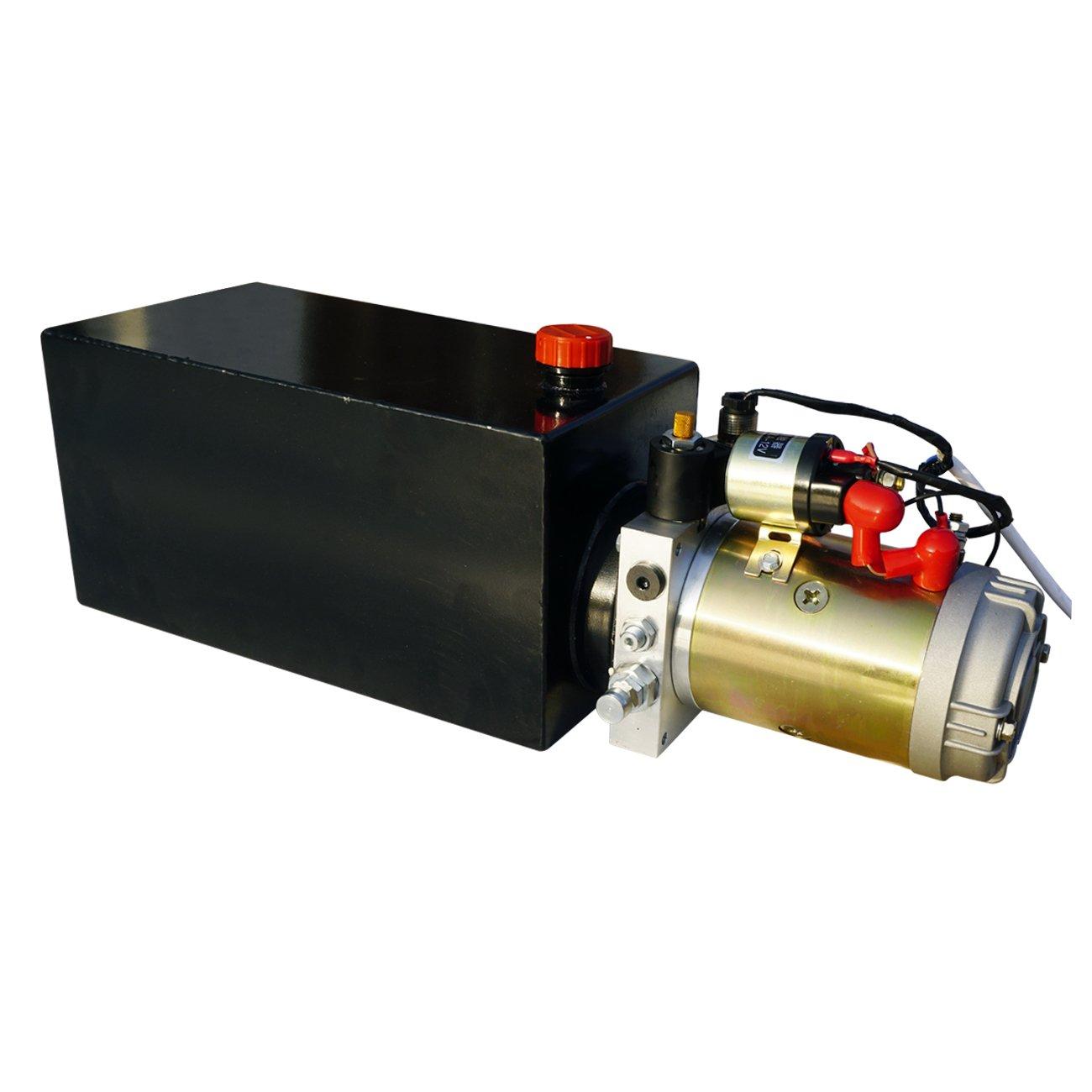 ECO-worthy 10クオート タンク 油圧動力ポンプ 単作用コントロールリフトユニット B01N5AHAVC