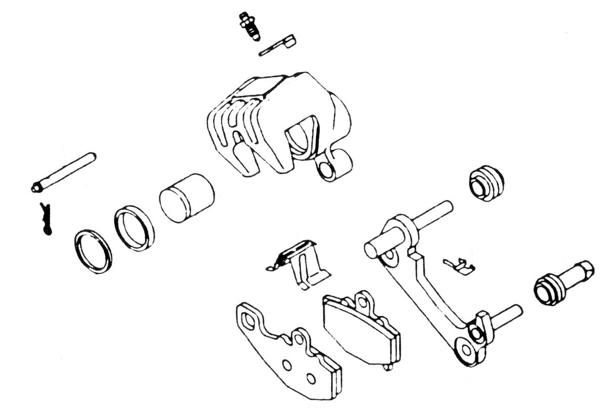 86-87 KAWASAKI EX250: K&L Brake Caliper Rebuild Kit