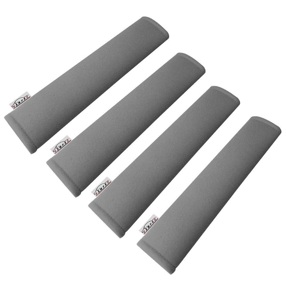 GAMPRO Car Seat Belt Pad Cover, 2-Pack Soft Car Safety Seat Belt Strap Shoulder Pad for Adults and Children, Suitable for Car Seat Belt, Backpack, Shoulder Bag (GRAY-4Pcs)