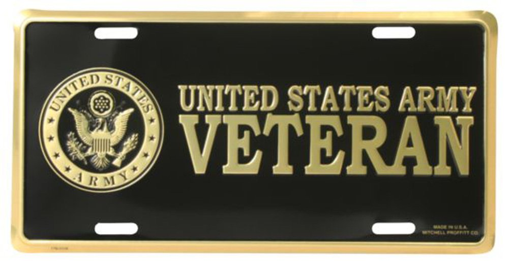 Honor Country US Army Veteran License Plate