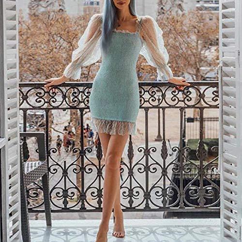 zysymx Vestidos de Mujer de Moda Mesh Hollow out Vestidos de Mujer ...