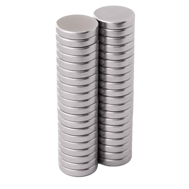 /40/pezzi 10/x 2/mm/ /super potenti /piccolo e rotondi/ N52 Potenti magneti al neodimio per lavagna magnetica/ lavagnetta magnetica Mini-magneti/ /per frigorifero