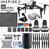 DJI INSPIRE 2 Drone and DJI FPV Goggles Combo with Zenmuse X7 Compact Super 35 3-Axis Gimbal/Camera - CinemaDNG & Apple Pro Res License Keys - Dual Remote Bundle