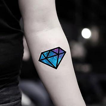 Amazoncom Galaxy Diamond Temporary Fake Tattoo Sticker