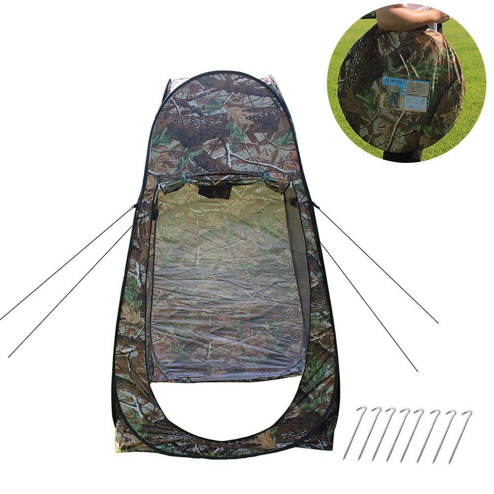 Happt Outdoor-Pop-up-Zelt Tarnung Camping Dusche Bad WC Privatsph/äre Garderobe Lagerung Einzigartige Mobile Faltzelt