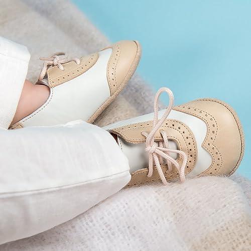 Baby Boy Wingtip Shoes - Beige