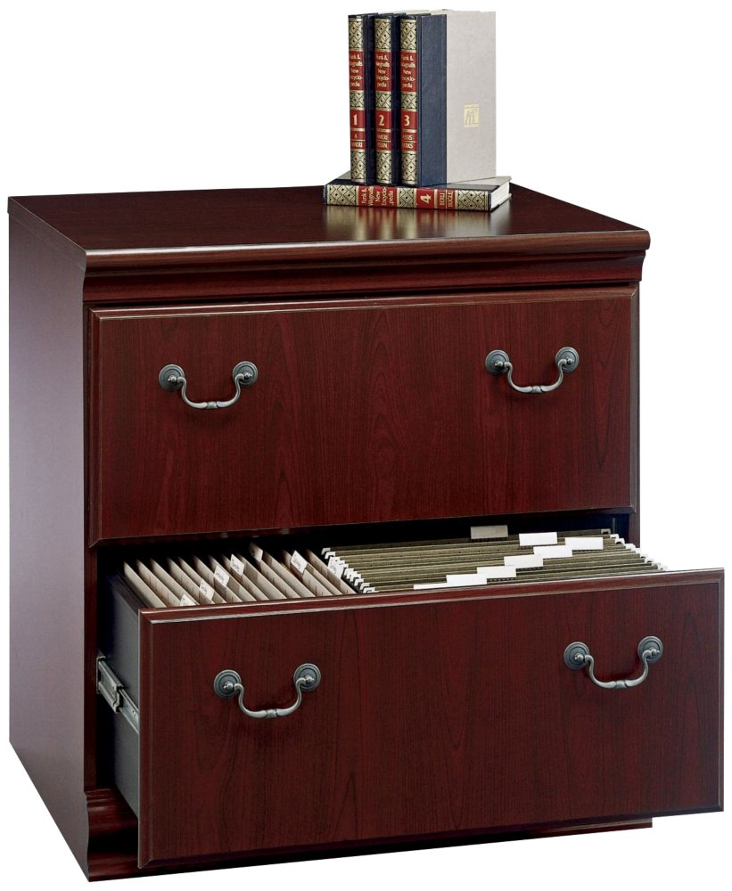 Amazon.com: Bush Furniture Birmingham Lateral File Cabinet, Harvest Cherry:  Kitchen U0026 Dining