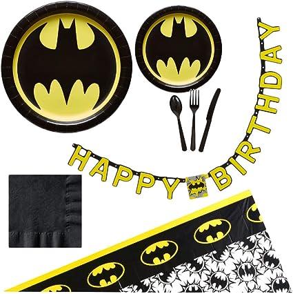 Amazon.com: Suministros para fiestas de cumpleaños de Batman ...