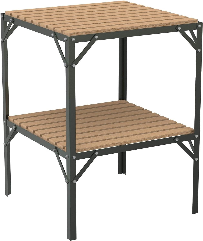 Estructura para invernadero de aluminio con baldas de listones de madera, de 0, 61 m de ancho.: Amazon.es: Jardín