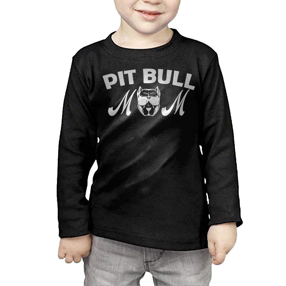 Fryhyu8 Baby Boys Childrens Pit Bull Mom Printed Long Sleeve 100/% Cotton Infants Tops