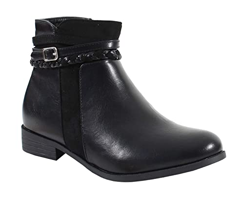 6a1a3578a349 By Shoes - Bottine Style Cuir - Femme - Taille 37 - Black  Amazon.fr ...
