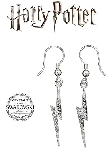 9051bc9f1 Image Unavailable. Image not available for. Color: HARRY POTTER Sterling  Silver Lightening Bolt Earrings ...